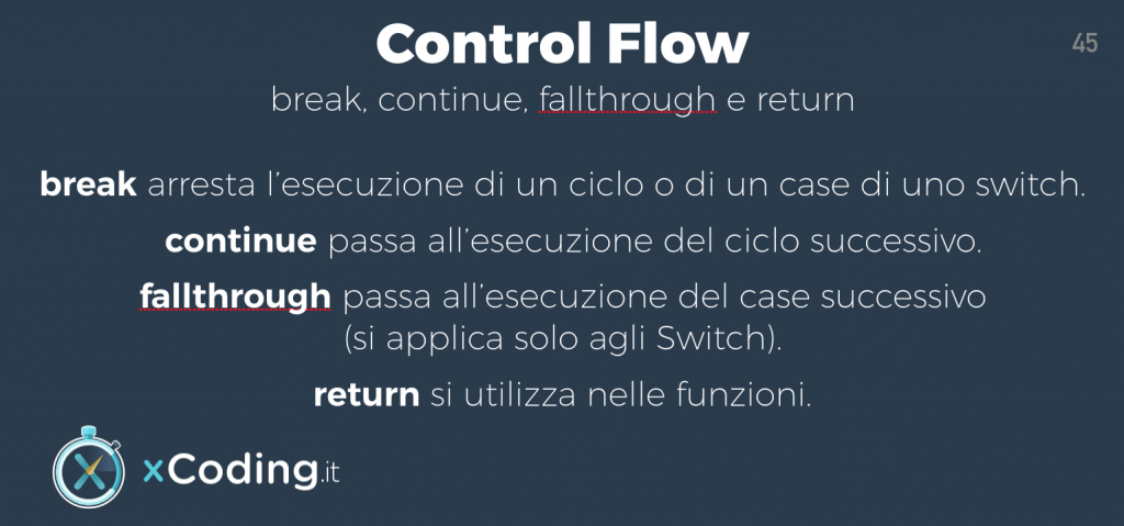 Control Flow linguaggio swift