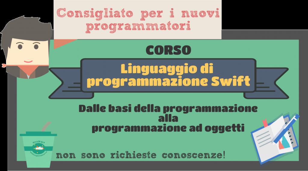 corso linguaggio di programmazione Swift
