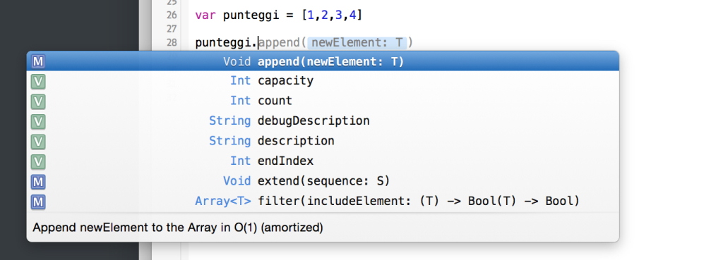 le funzioni degli array in swift
