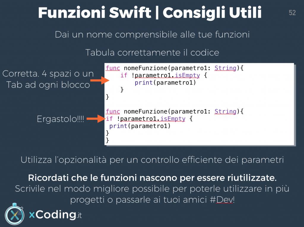 funzioni linguaggio swift consigli utili