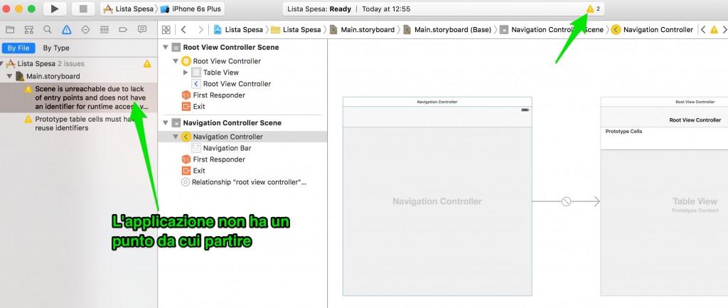 isInitialViewController per NavigationController