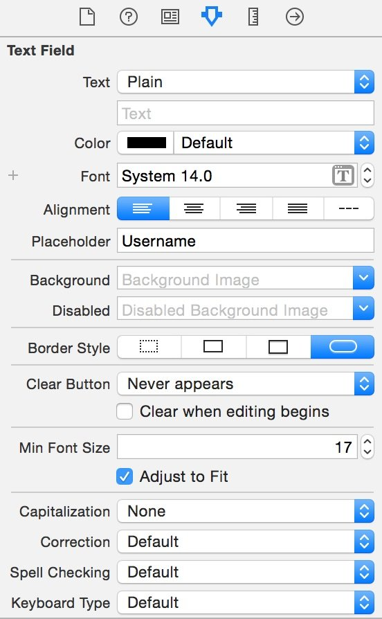 Attributes Inspector xcode 6