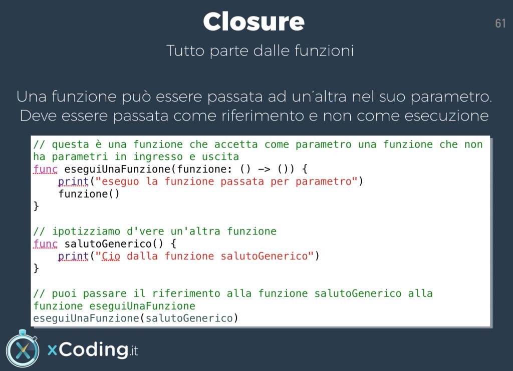Introduzione alle Closure in Swift