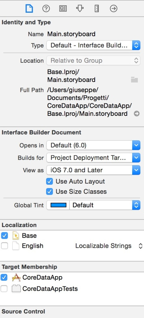 file ispector xcode 6