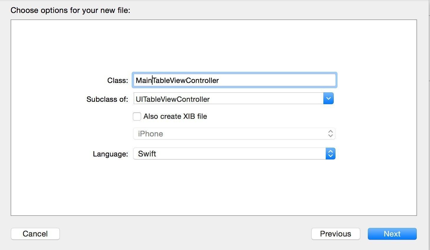 new file Creare un Promemoria in Swift per iOS