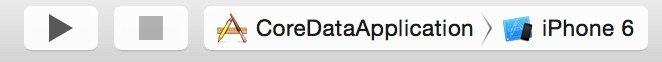 toolbar Xcode 6 sinistra