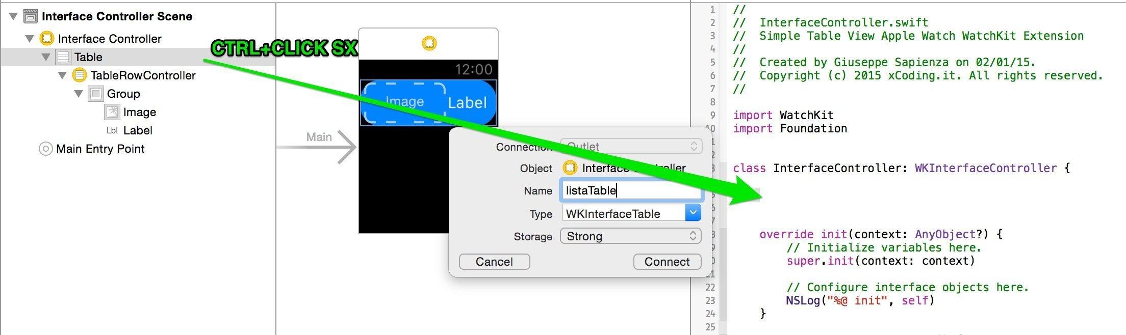 inserire una connessione Interface Controller