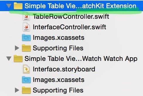 new swift file in Apple Watch
