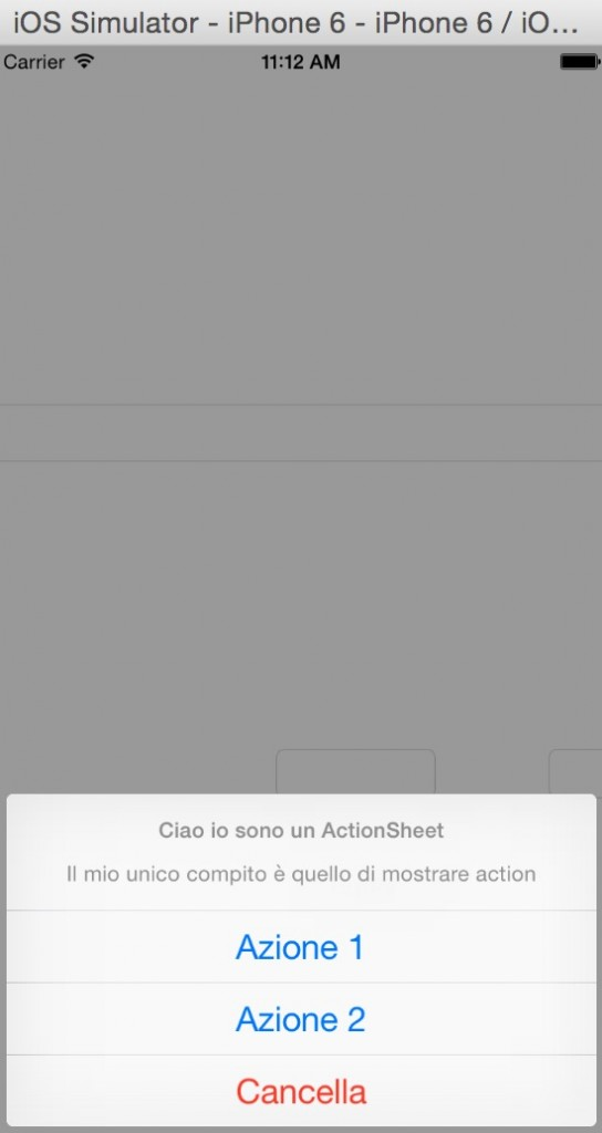 Action Sheet swift e ios8