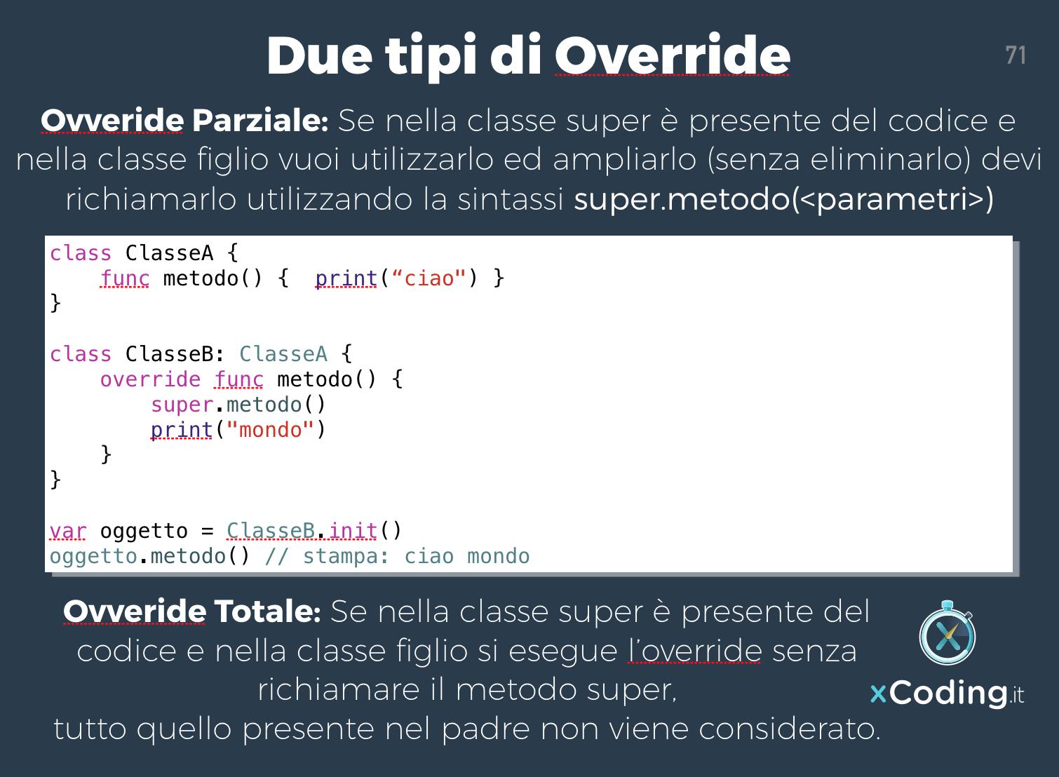 override-classi-linguaggio-swift