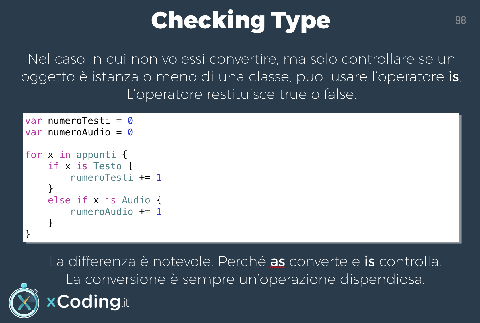 Type Checking linguaggio swift