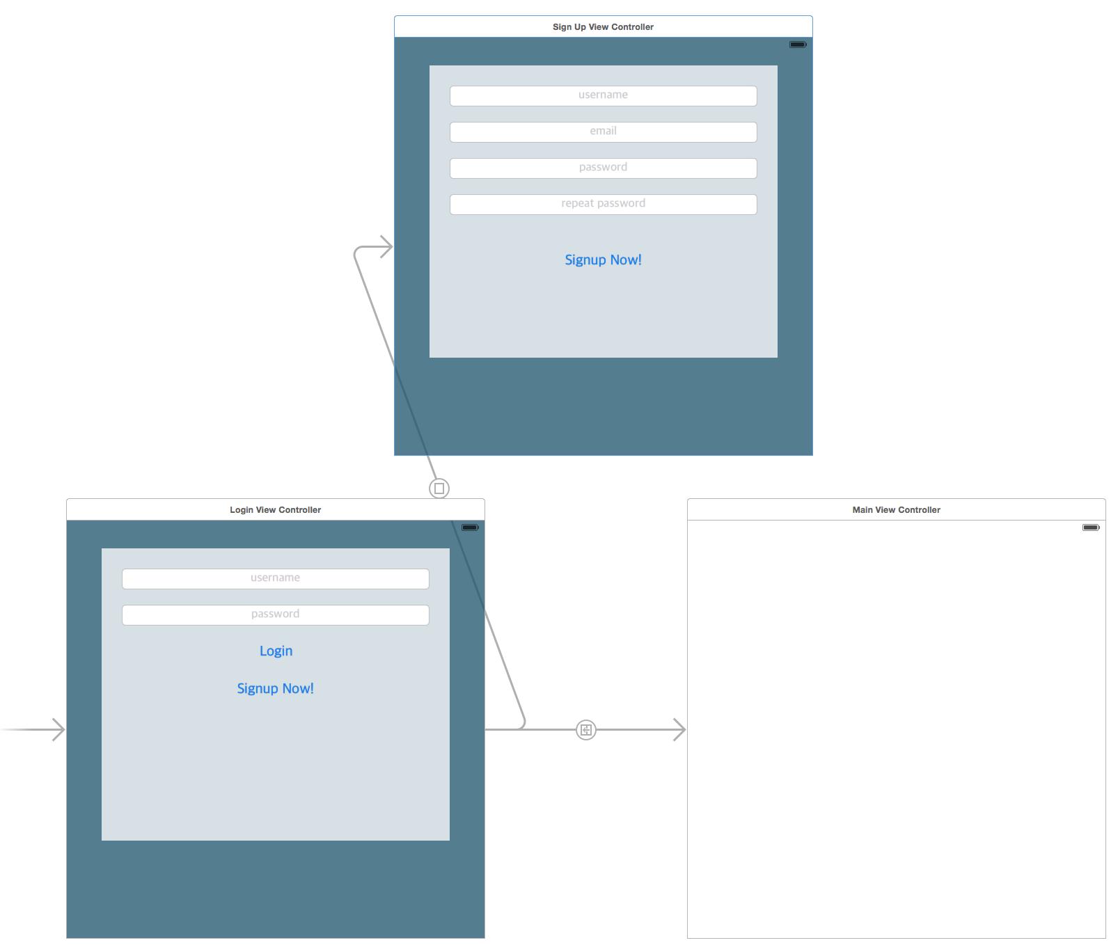storyboard applicazione login parse online swift