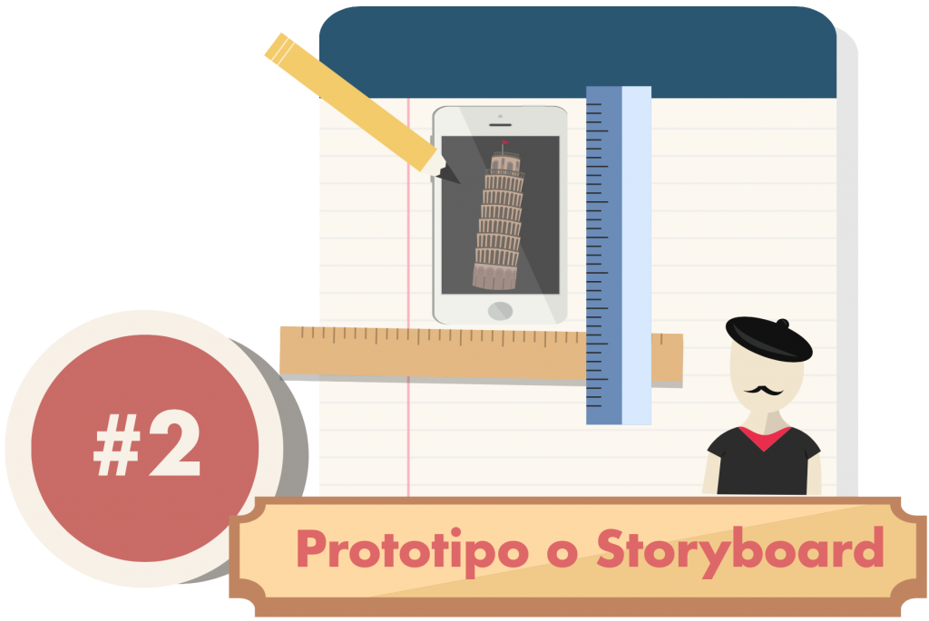 prototipo o storyboard applicazione