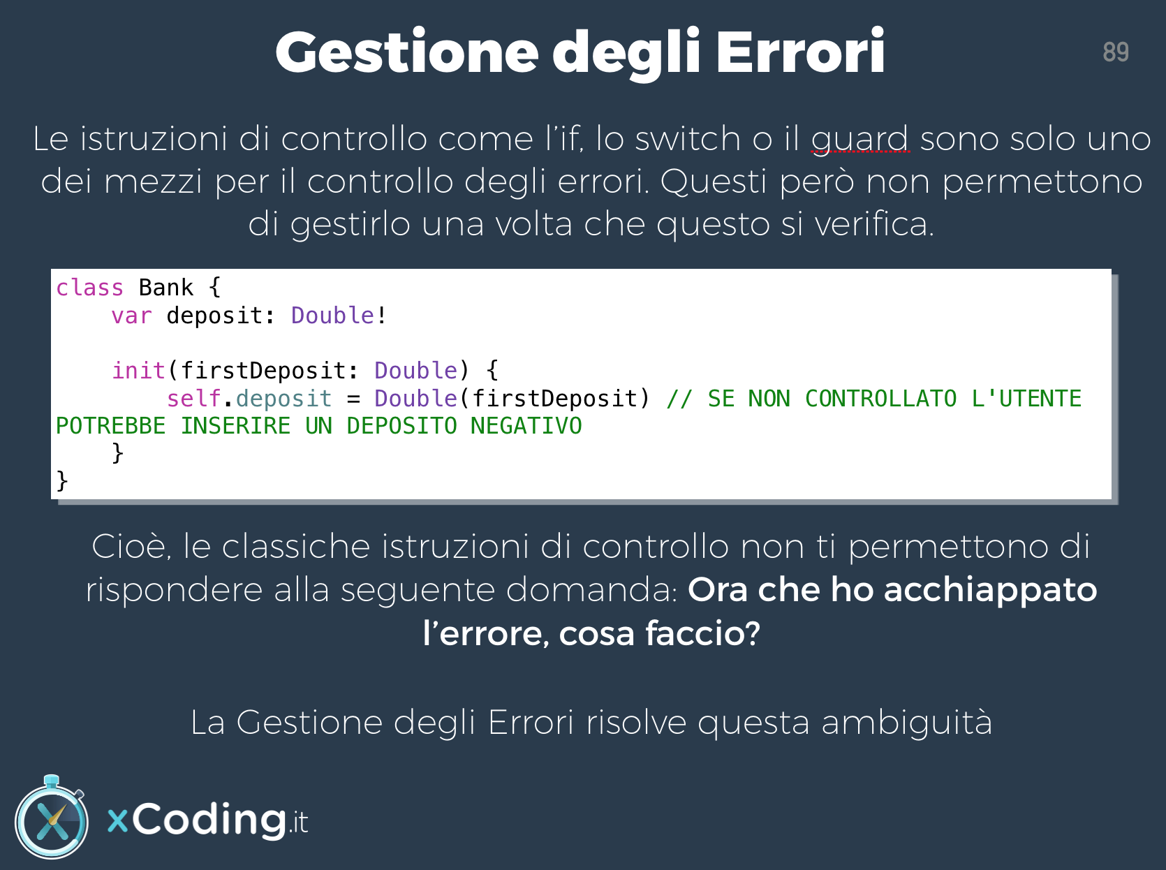 Gestione Errori in Swift