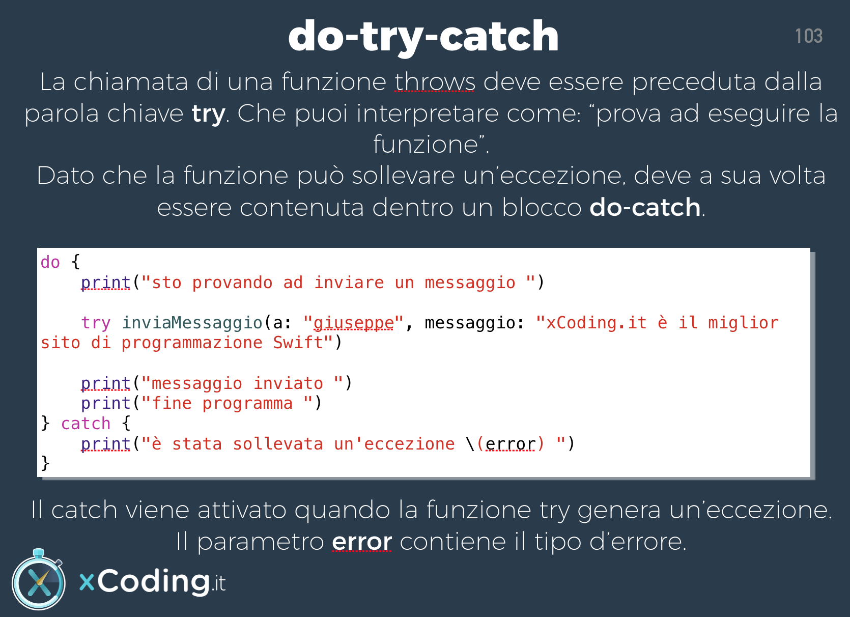 do try catch linguaggio swift