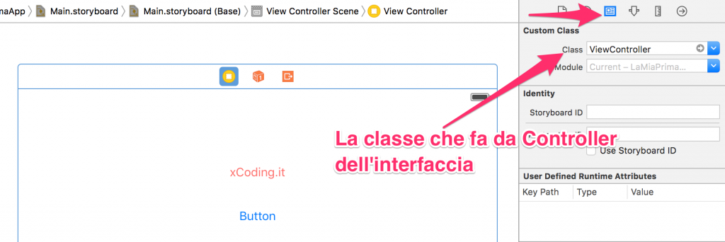 Controller associato ad un'interfaccia