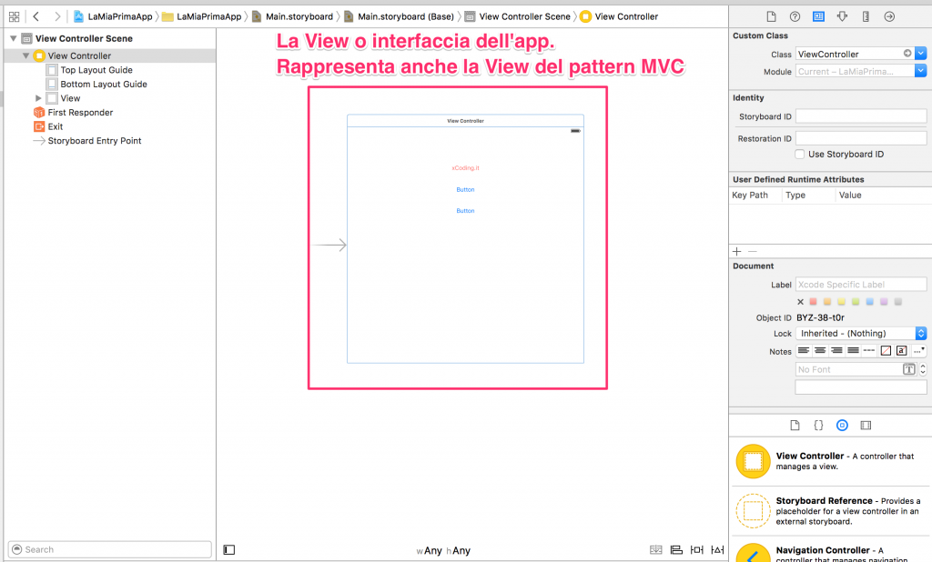 View del pattern MVC in Swift