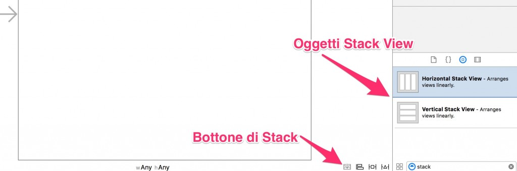 Stack View in Xcode e Storyboard