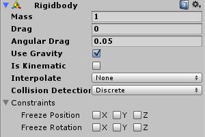 Fisica in Unity con il Rigid Body