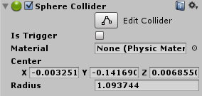 Fisica in Unity con il Collider