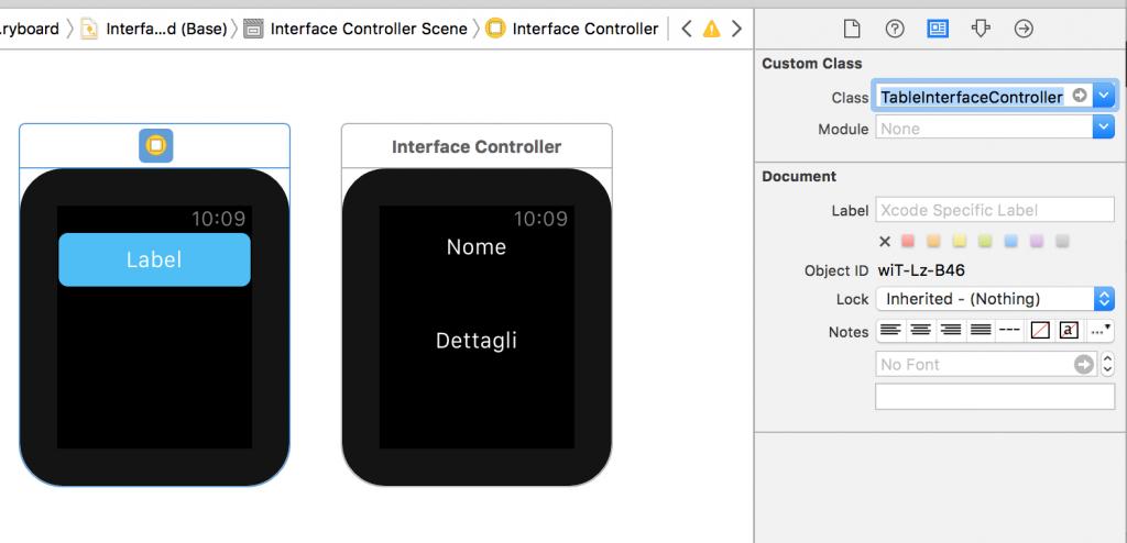 Associare una classe ad Interface Controller