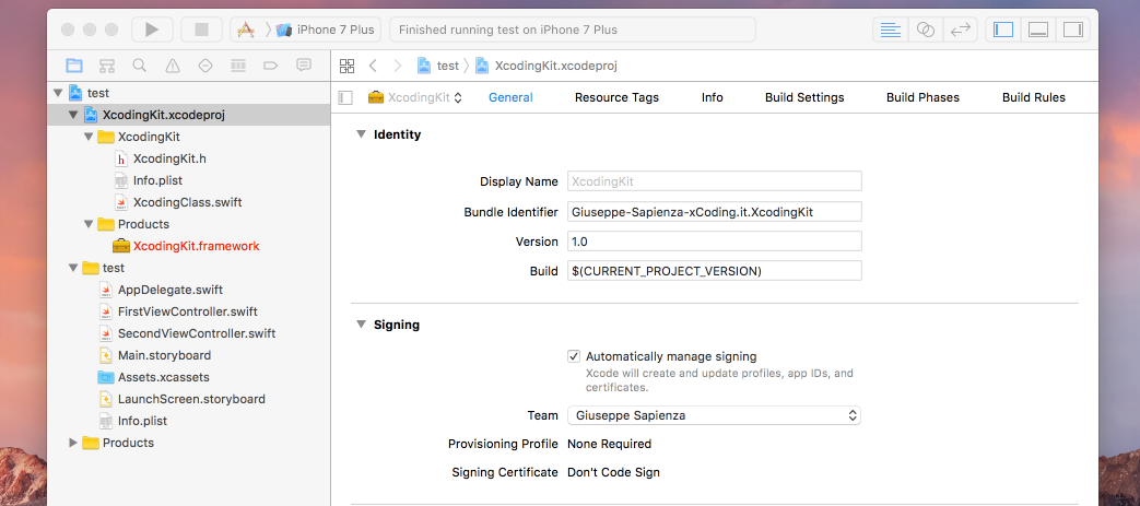 framework-xcode-e-linguaggio-swift