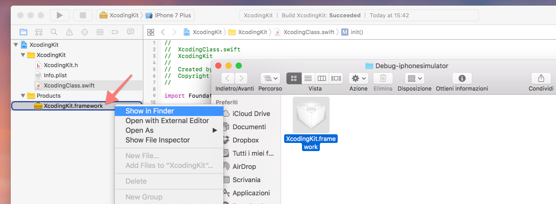 show-in-finder-nuovo-framework-xcode