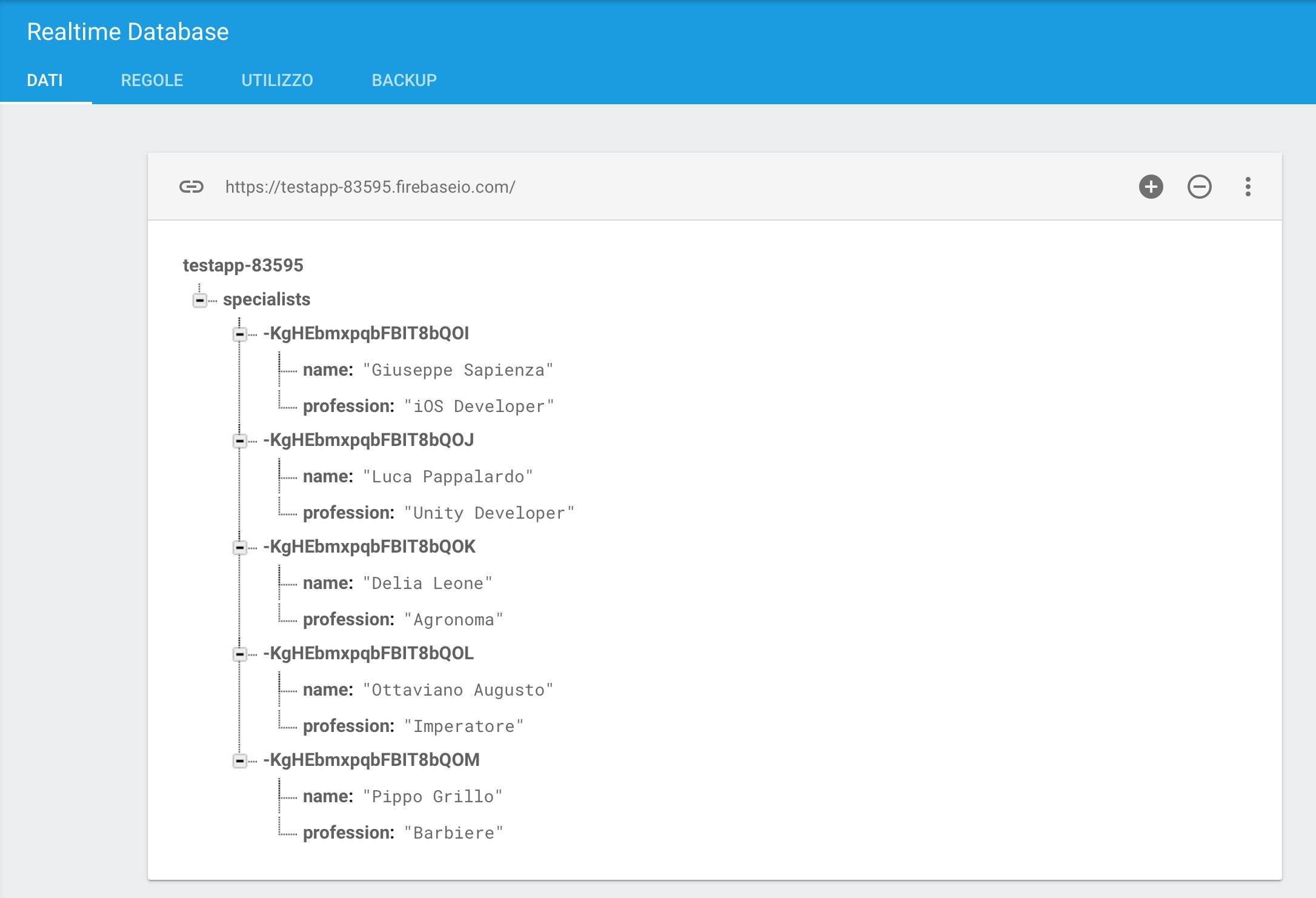struttura-database-realtime-firebase