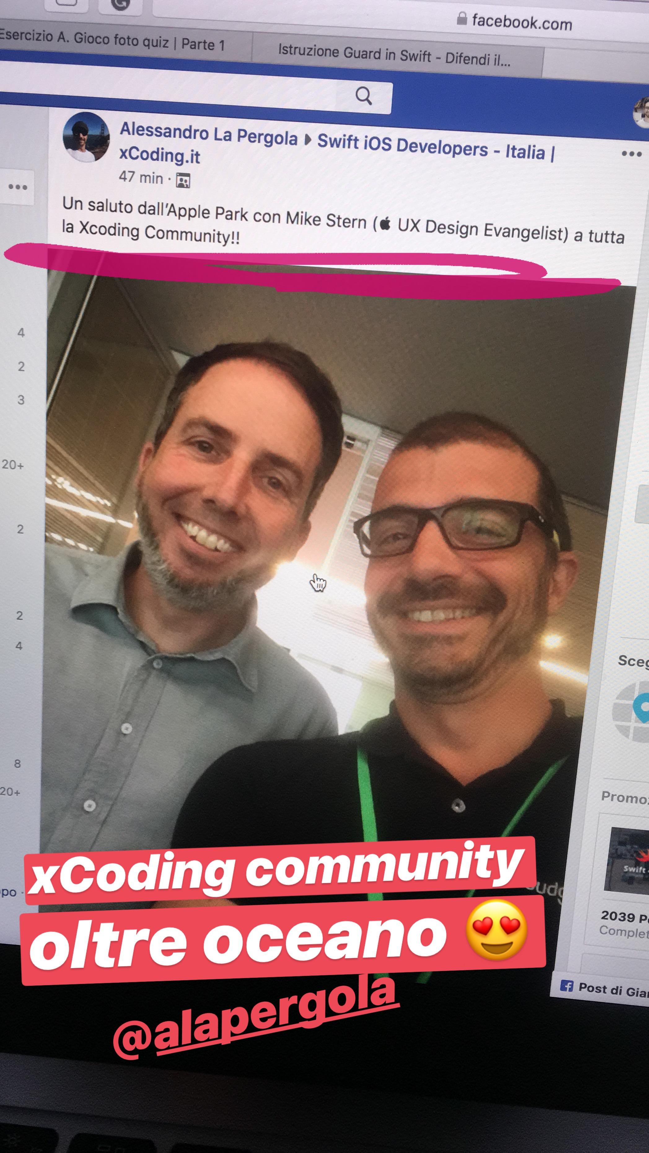 xCoding ad Apple Park