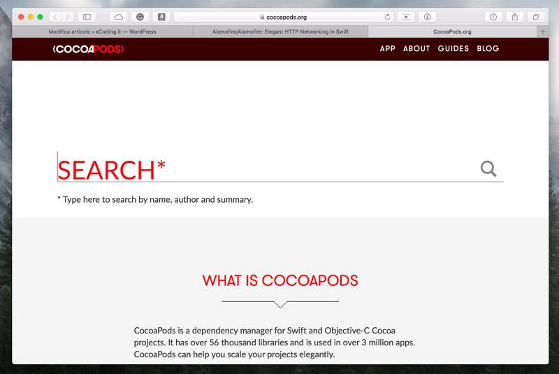 Cos'è cocoa pods e come integrarlo nelle nostre app ios