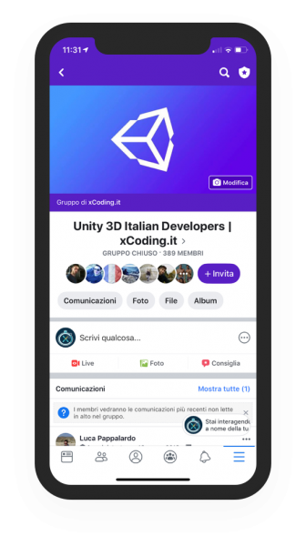 unity 3d community sviluppatori videogiochi xcoding